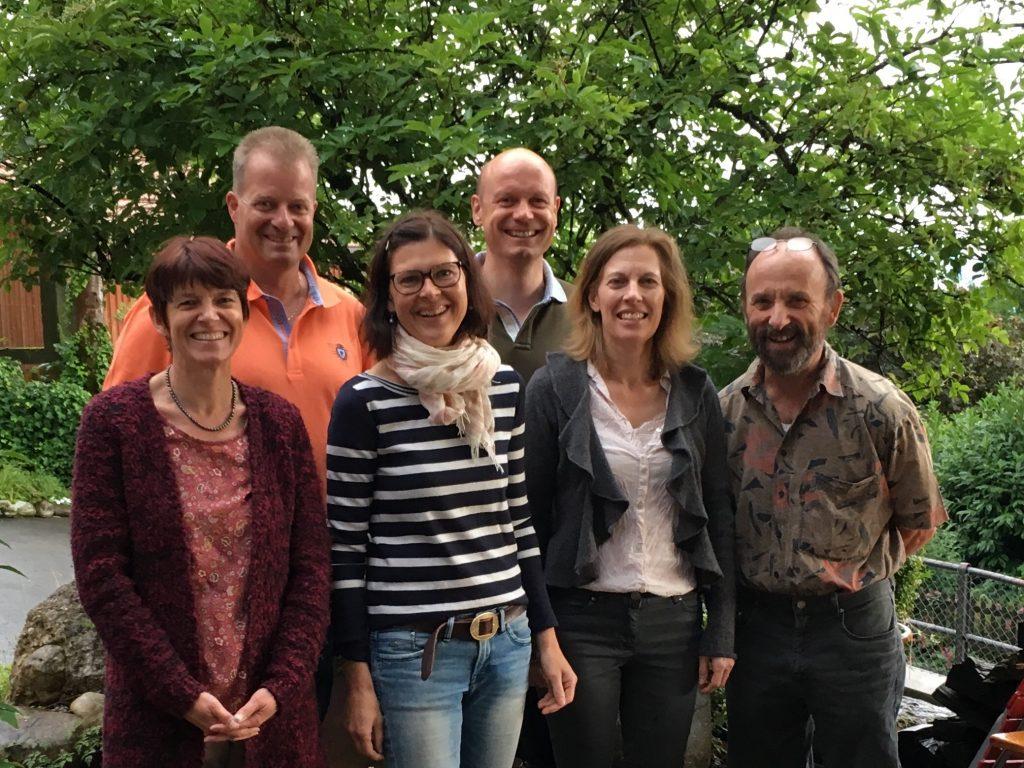 Ruth Nyffenegger, Dani Schweizer, Marion Beeler, Stefan Burau (Präsident), Karin Aubry (Vizepräsidentin), Beni Weber (Kassier)