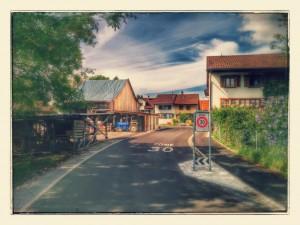 Dorfeingang vom Hasenstrick her